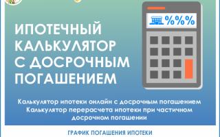 Калькулятор досрочного погашения ипотеки — как рассчитывается