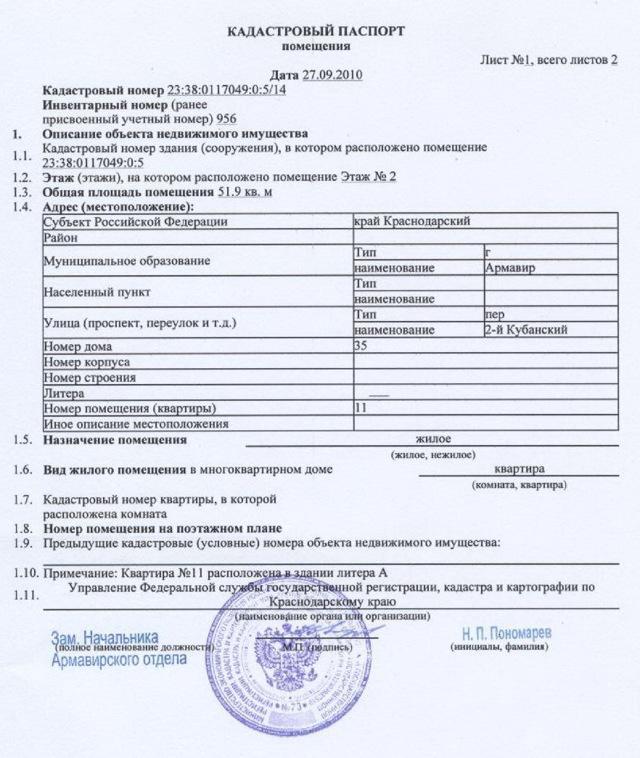 Кадастровый паспорт на квартиру: что такое, как и где получить, документы