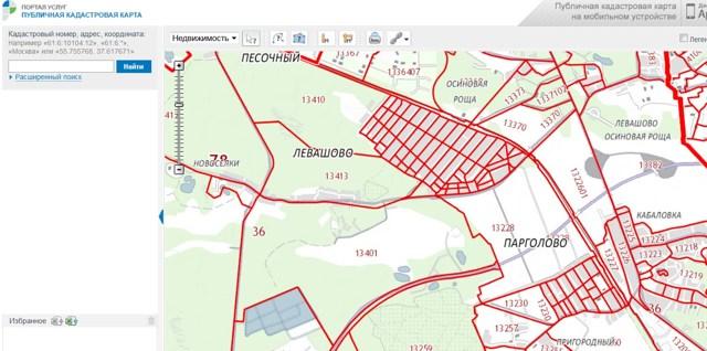 Как пользоваться публичной кадастровой картой России