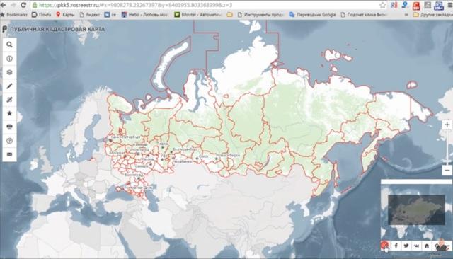Карта межевания земельных участков России