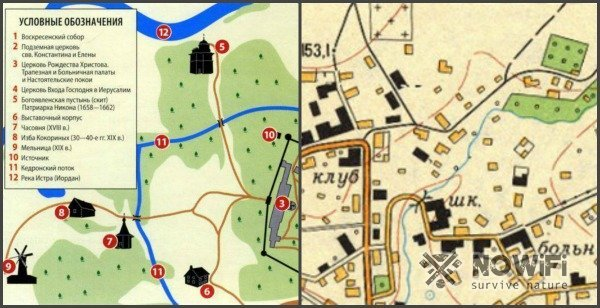 Условные знаки топографических карт — виды и обозначения
